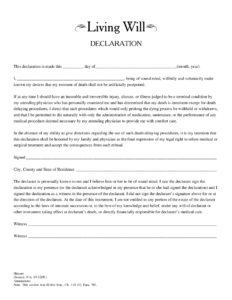 2020 Living Will Form Fillable Printable PDF Forms