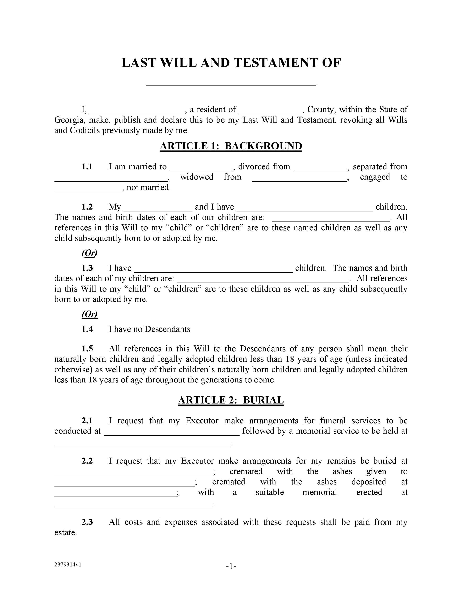 39 Last Will And Testament Forms Templates TemplateLab