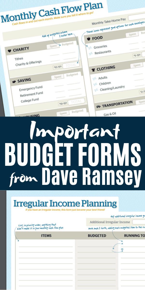 Dave Ramsey Budget Forms That Are A Lifeline When You re