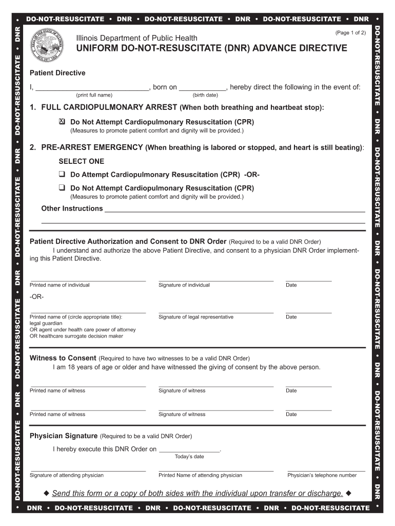 Dnr Form Fill Online Printable Fillable Blank PdfFiller