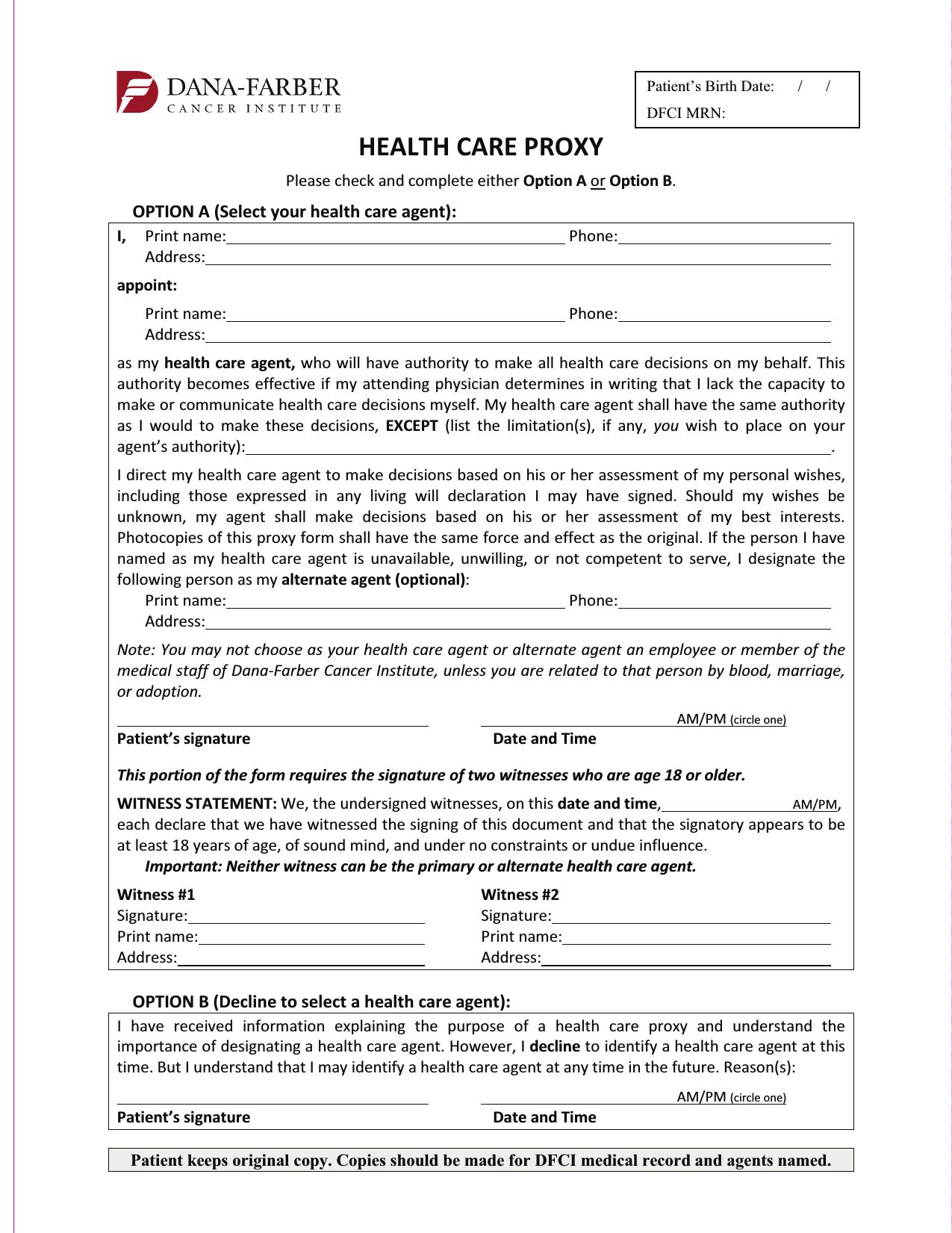 Download Massachusetts Living WIll Form Advance