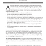 Download Vermont Living Will Form Advance Directive