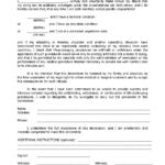 Florida Living Will Form Fillable PDF Free Printable