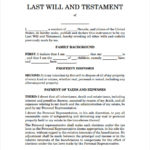 FREE 7 Sample Last Will And Testament Forms In MS Word PDF