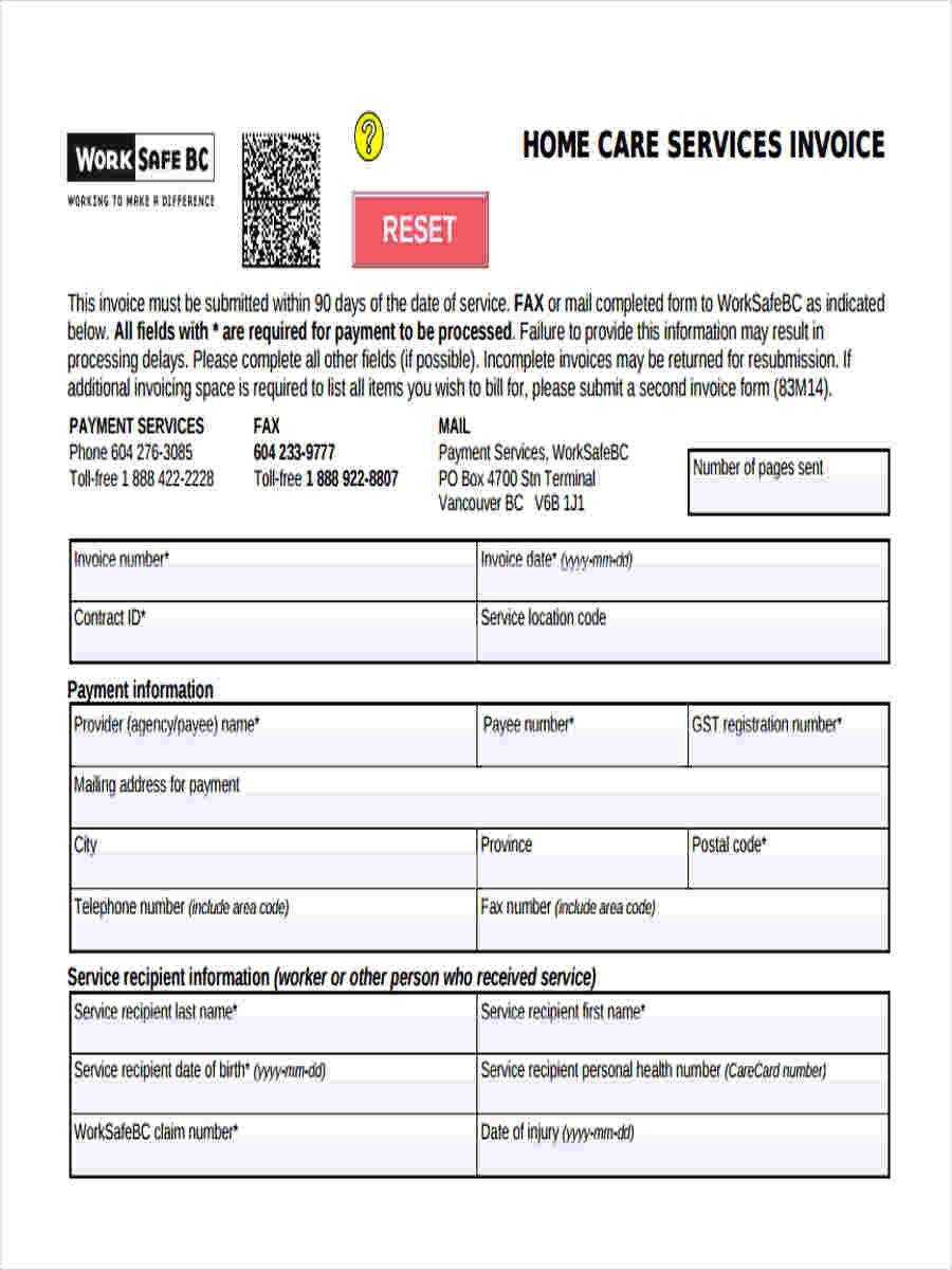 FREE 9 Sample Service Invoice Forms In MS Word PDF