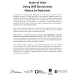Free Ohio Living Will Declaration Advance Directive