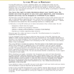 Free Printable Living Will Form Kentucky 2 Important Facts