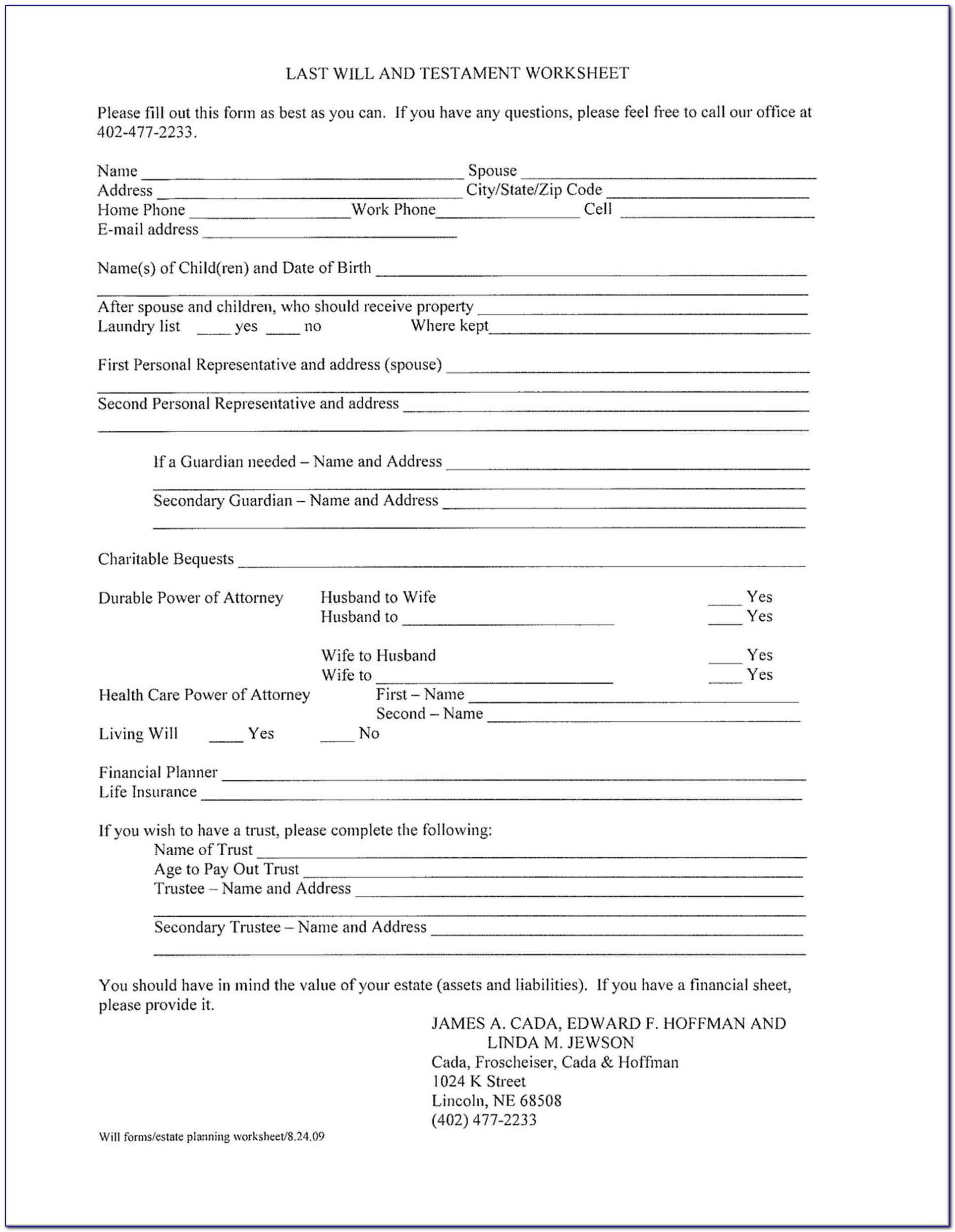 Free Printable Living Will Forms Florida Free Printable