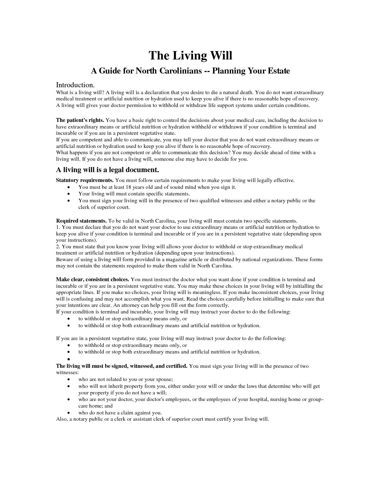 Free Printable Living Will Forms Washington State Free