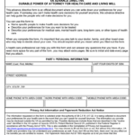 Free Virginia Living Will And Durable Power Of Attorney Form