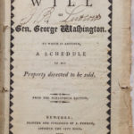 George Washington S Last Will And Testament Available In