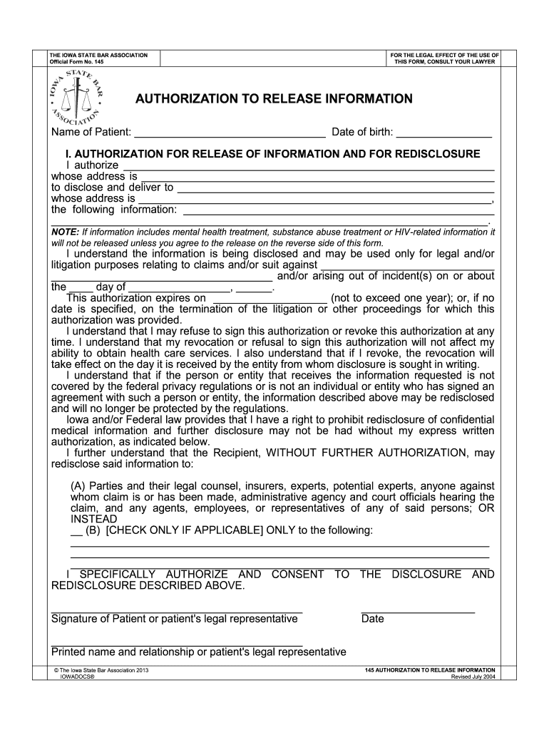 Iowa Bar Association Forms Fill Out And Sign Printable