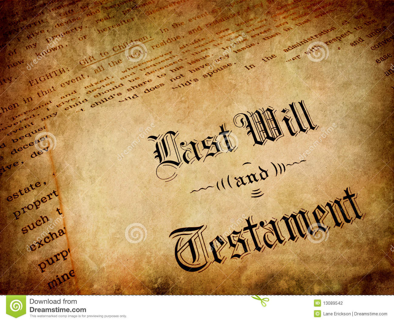Last Will And Testament Stock Photography Image 13089542