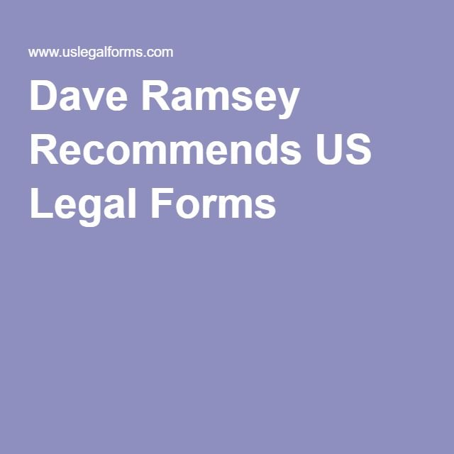 Legal Forms For Last Will Etc Legal Forms Dave Ramsey