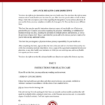 Living Will Mississippi MS Advance Directive Form With