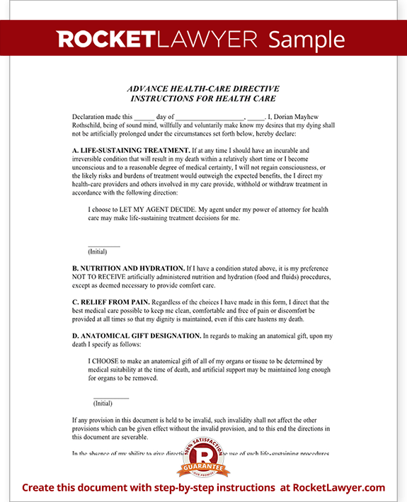 Living Will New Mexico NM Advance Directive Form with