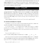 New York Living Will Form Fillable PDF Free Printable