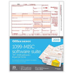 Office Depot Brand 1099 MISC Laser Tax Forms With Software