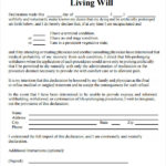 Ohio Living Will Form Download Free Amulette