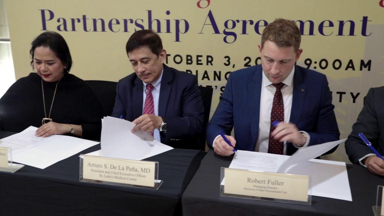 Robert Fuller Signing Partnership With St Luke s Medical