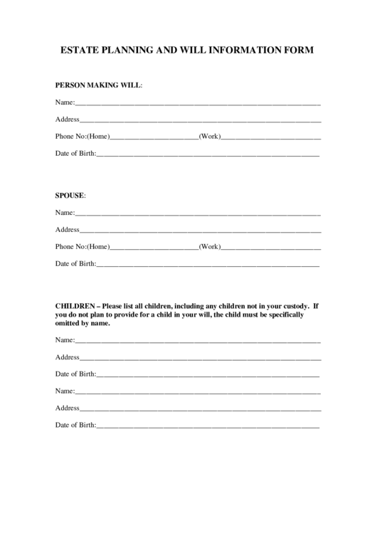 Top 11 Estate Planning Forms And Templates Free To
